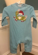 LEMON LOVES LIME BLUE COASTAL CHRISTMAS CRAB COVERALL SIZE: 3-6M  NWT - $19.99