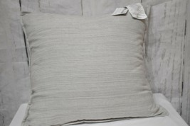 Hotel Collection Knit Ash Beige 20'' X 20 '' Square Decorative Pillow - $39.59