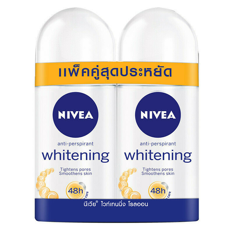 Nivea Whitening Pore Minimizer Deodorant Antiperspirant Roll On 50ml Pack of 2