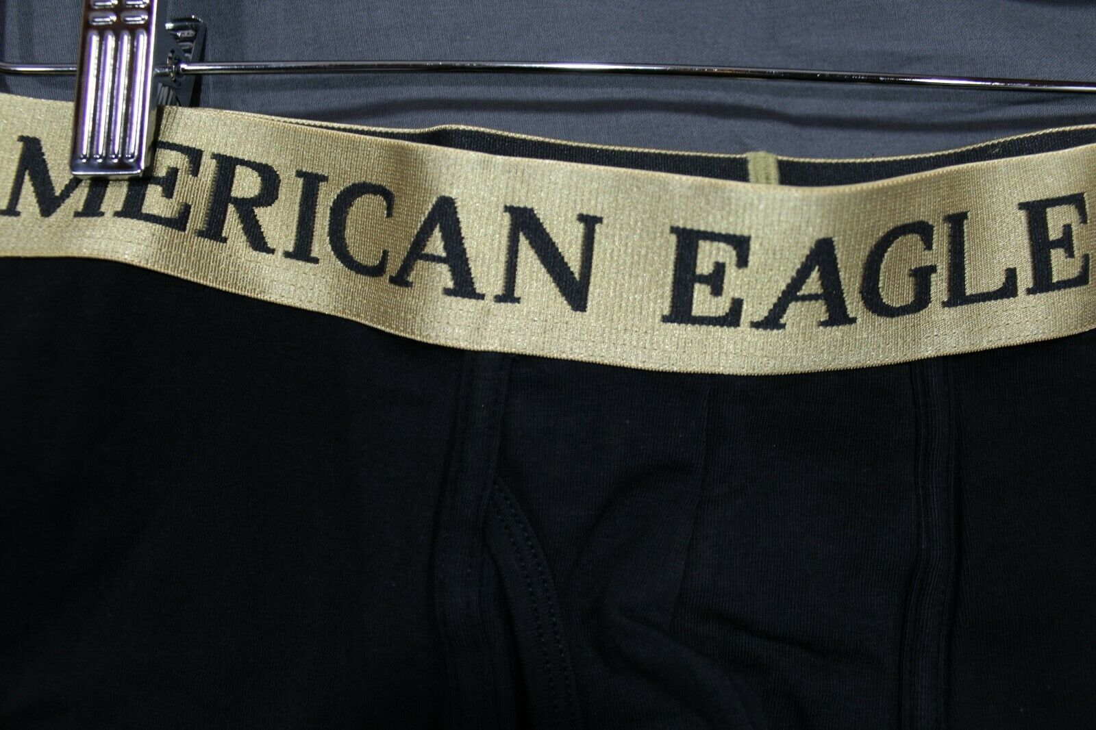 NEW AE Men's Cotton Stretch Boxer Briefs American Eagle Medium Black
