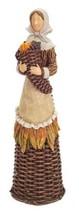 """15.5"""" Basket Weave Pilgrim Girl Thanksgiving Table Figure - $81.95"""
