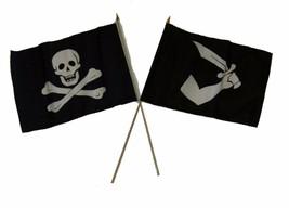 "12x18 12""x18"" Wholesale Combo Pirate No Patch & Thomas Tew Stick Flag - $22.00"