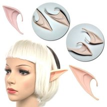 Short Prosthetic Fairy Pixie Elf Ear Halloween Costume Cosplay Stage Prop - 1x w