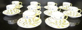 Ten Royal Worcester Demitasse Cups & Saucers - The Blind Earl Pattern - $178.12