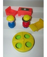 Fisher Price little people take along school pieces retro chunky furniture lot - $9.89
