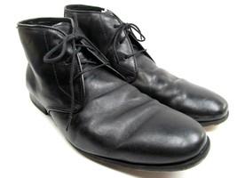 Florsheim Mens Leather Plain Toe Lace up Black Dress Ankle Boots Size 10 3E - $33.95