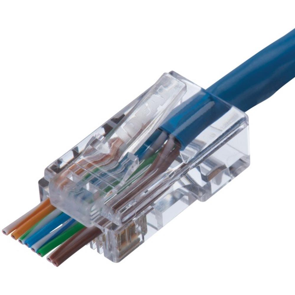 IDEAL 85-372J CAT5e Feed-Thru Modular Plugs, 100-Count