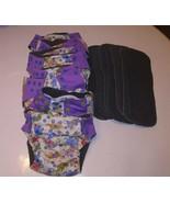 Happy Flute Elephant Lot 8 Reusable Diaper Covers + 8 Inserts Adjustable... - $49.49