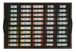 Mungyo Artists Handmade Soft Pastels 200 Colors Set Wooden Case image 3