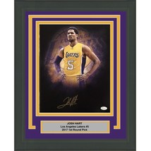 FRAMED Autographed/Signed JOSH HART Los Angeles LA Lakers 11x14 Photo JS... - €71,59 EUR