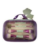 Cherry Chree Cosmetic Case with 4 Pc Cosmetic Brush Set - $19.79