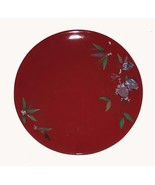 4 Tracy Porter JOLLY OL' SNOWY Raised Sugar Plum Red Dinner Plates NEW 3... - $47.99