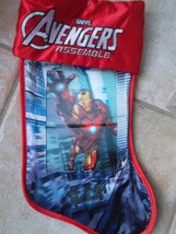 "Marvel Avengers Lenticular Iron Man 3D Holiday19"" Christmas Stocking NWT - $14.95"