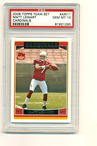2006 Topps Team Set Matt Leinart Rookie RC Graded PSA GEM Mint 10 - Football Car