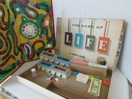 VTG 1960 MILTON BRADLEY BOARD GAME THE GAME OF LIFE ART LINKLETTER #4000  - $34.25
