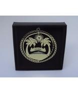 Cuba Brass Ornament Black Leatherette Gift Box  - $14.95