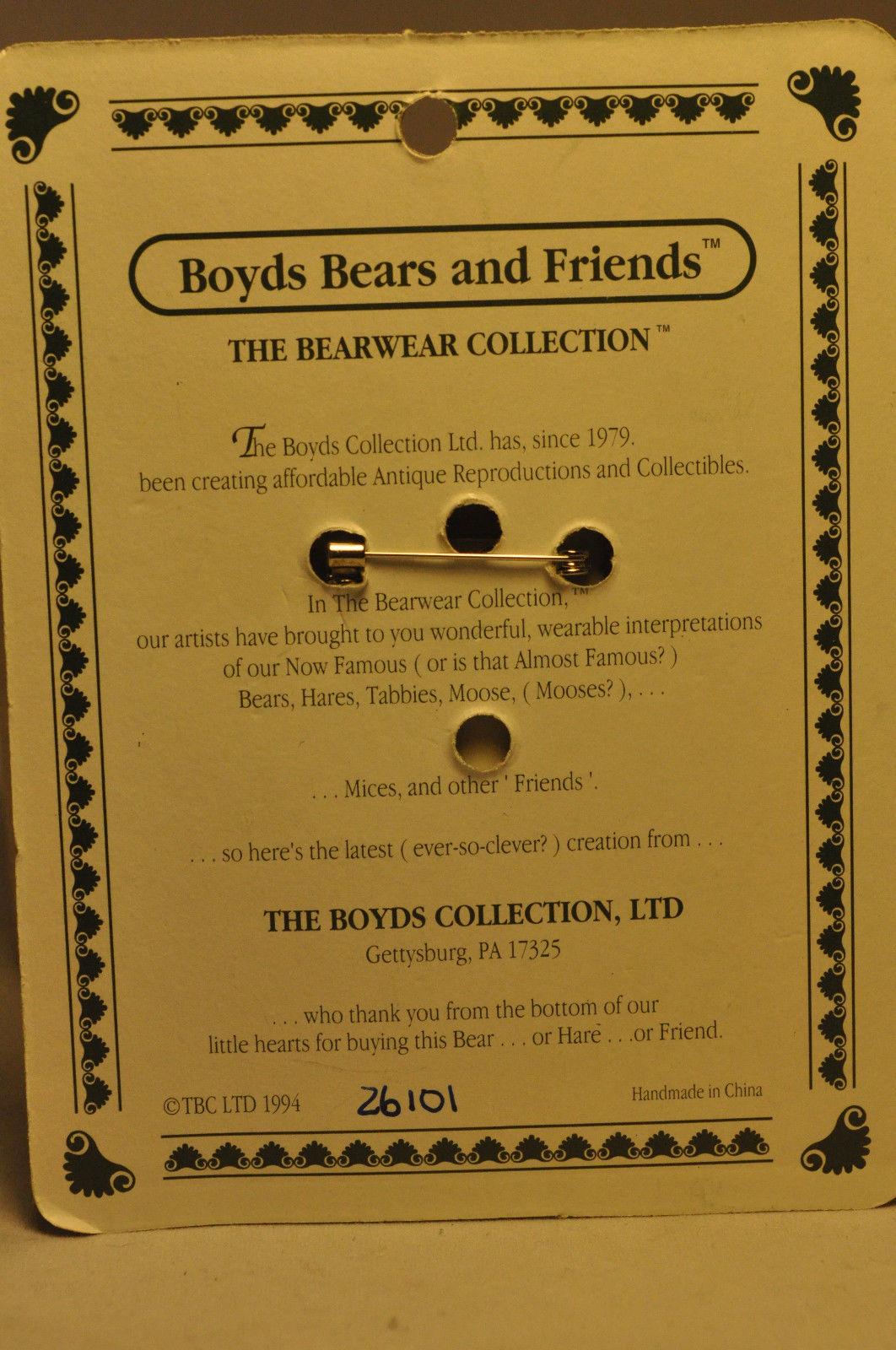 Boyds Bears & Friends: BEARWEAR - Santabear - Brooch Pin 26101 image 3