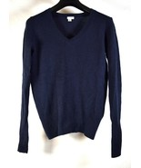 Halogen Sweater 100% Cashmere Navy Blue V-Neck Pullover XS Womens - $39.60