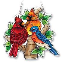 AMIA - Cardinal - Nested Birds Medium Water Cut Suncatcher - $37.78