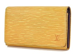 Auth LOUIS VUITTON Yellow Epi Leather Long Wallet Zippered Coin Purse #2... - $109.00