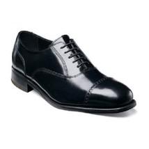 Florsheim Men's Shoes Lexington Cap Toe Black Leather Lace Up Dressy 17067-01 - $115.00