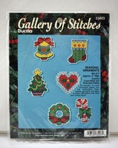 Gallery of Stitches 6 Seasonal Ornaments Bucilla Counted Cross Stitch Ki... - $9.45