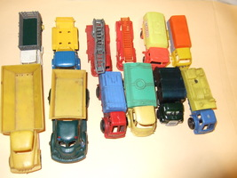 Vintage lot of 15 Trucks and Jeeps from the 60's - $9.95
