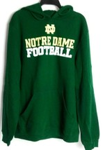 Adidas Notre Dame Fighting Irish Football Hoodie Sweatshirt Green Cotton... - $29.69