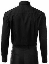 Berlioni Italy Men's Black Slim Classic Standard Cuff Button Up Dress Shirt - M image 3