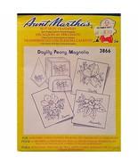 Daylily Peony Magnolia Aunt Marthas 3866 Vintage Flowers Hot Iron Transf... - $6.99