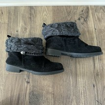MUK LUKS 16895 Patrice Ankle Black Suede Fashion Boots Booties Women's Size 10 - $29.99