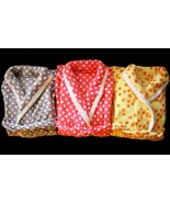 Soft Plush Women's Fleece Pajama Bathrobe Red Gray Polka Dots or Yellow ... - $9.97
