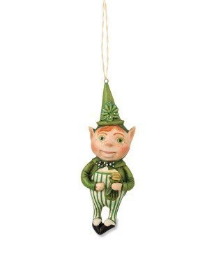 Bethany Lowe St Patrick's Day - Lucky Leprechaun Ornament HH4856