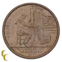 1910 Belgium Universal Exposition of Brussels Bronze Medal - $26.73