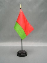 "BELARUS 4X6"" TABLE TOP FLAG W/ BASE NEW DESK TOP HANDHELD STICK FLAG - $4.95"