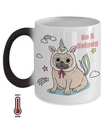Dog Lover Mug Pug Puppy Gift Coffee Tea Travel Cup Heat Activated Sensit... - $16.99