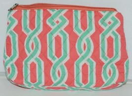 NGIL GUA2121 Quilted Pink Striped Vine Print Coral Green Diaper Bag image 2