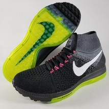 Nike Zoom All Out Flyknit Running Shoes Womens SZ Athletic Black Volt Gr... - $109.99