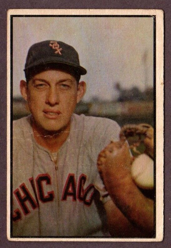 Primary image for 1953 BOWMAN COLOR HI #157 SHERMAN LOLLAR BASEBALL CARD-CHICAGO WHITE SOX