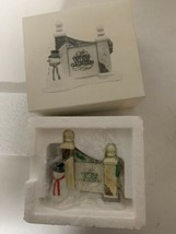 """Dept. 56 Heritage Village Collection© """"Village Sign With Snowman"""" New In Box - $14.84"""