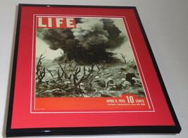 Life Magazine April 9 1945 Framed 11x14 Cover Display Iwo Jima - $32.36