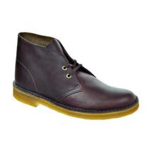 Clarks Original Men's Desert Boot Wine Leather-Brown 26109441 - $124.95