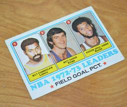 1972-73 TOPPS NBA Leaders Basketball Card Wilt Chamberlain Kareem Abdul-... - $16.26