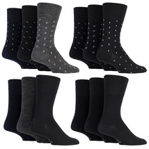 Gentle Grip - 3 paia uomo corti calzini neri lana invernali fantasia - $8.92
