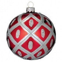 """Waterford Holiday Heirlooms 2013 4"""" Ruby Ball Opulence New In Box # 162994 - $88.36"""