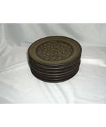 7 Vintage Bread Plates Franciscan China Pottery Brown Madeira California - $64.35
