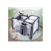 Folding Portable Baby Playpen w/ Changing Table Whirligig Storage Basket... - $169.98