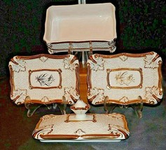 Jewelry Box and two Plates AA20-7061 Vintage