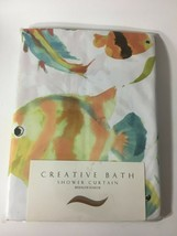 Creative Bath Rainbow Fish Fabric Shower Curtain New in Package - $27.47