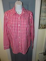 Vineyard Vines Pink Plaid Gingham Button Down Shirt Size 4 Women's EUC  - $32.00